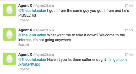 agent of lolla leak 2013