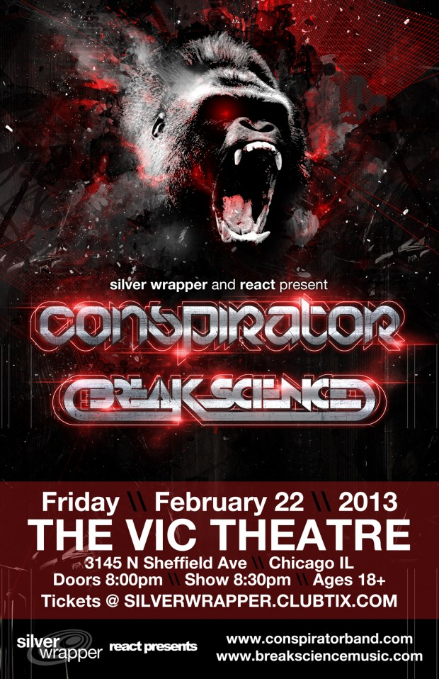 conspirator and break science at vic theater