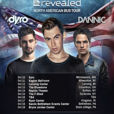 [CONCERT NEWS] Hardwell Rounding Out North American Bus Tour With Dyro and Dannic