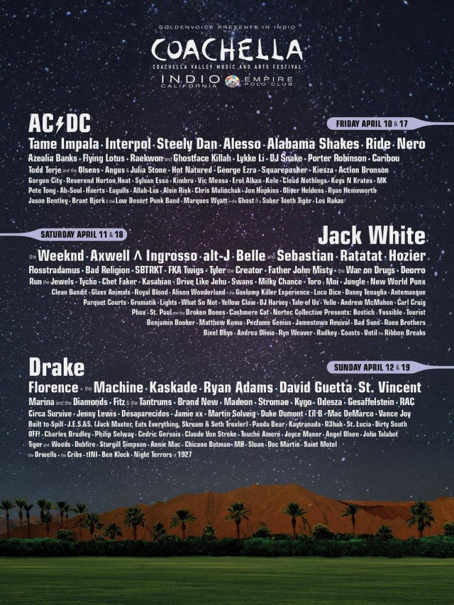 [NEWS] Coachella 2015 Lineup Announced!