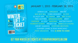 [WINTER PASS GIVEAWAY] Win Passes To See Afrojack, EC Twins, Sunnery James, Ryan Marciano, Lil Jon, Project 46 And More At Studio Paris