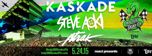 [TICKET GIVEAWAY] Win Tickets To See Kaskade, Steve Aoki, and A-Trak At The Indy 500 Snake Pit  1