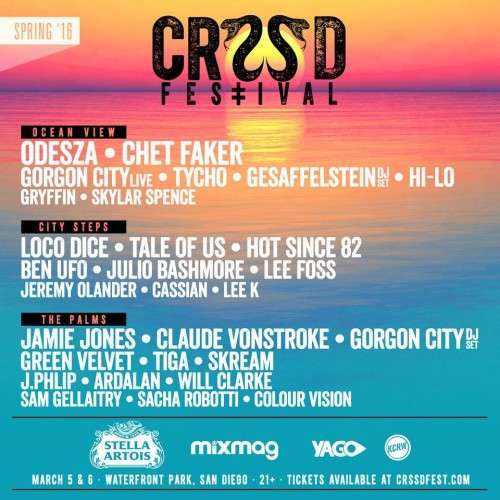 [NEWS] CRSSD Announces Incredible Spring '16 Lineup – Odesza, Gesaffelstein, Chet Faker, Loco Dice, Claude VonStroke + More