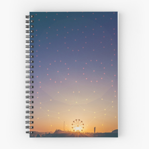 Festival Sunset Spiral Notebook Front
