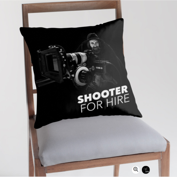 Shooter For Hire Throw Pillow Main