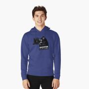 Shooter For Hire Hoodie - Front Blue