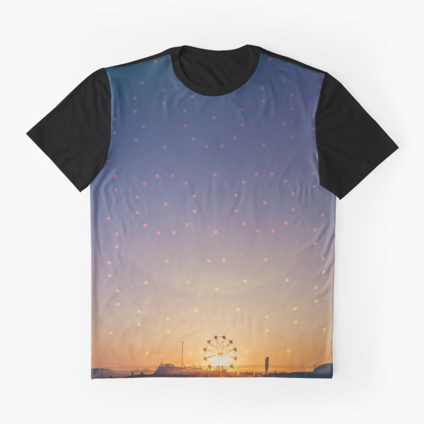 Festival Sunset Graphic Tee – Front