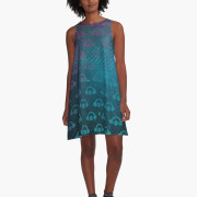 Floating In Space A-Line Dress