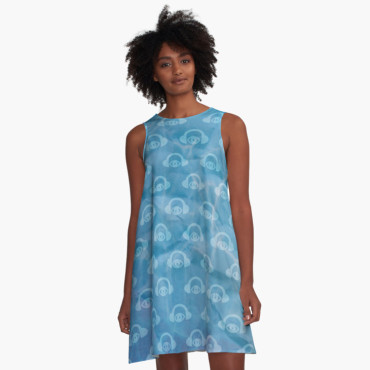 Water Works A-Line Dress