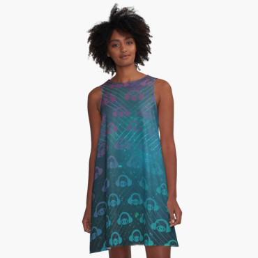Floating In Space A-Line Dress 1