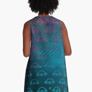 Floating In Space A-Line Dress 4