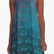 Floating In Space A-Line Dress 5
