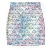 Paper + Water Color Graphic Mini Skirt