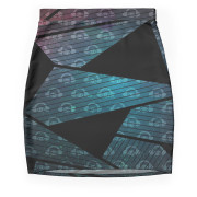 Geometry In Space Graphic Mini Skirt 1