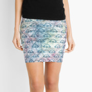 Paper + Water Color Graphic Mini Skirt 2