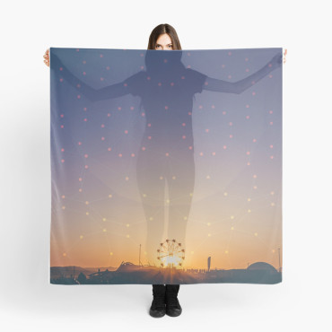 Festival Sunset Graphic Scarf
