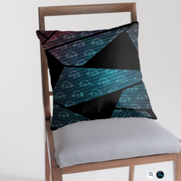 Geometry In Space Graphic Throw Pillow