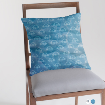 Water Works Graphic Throw Pillow