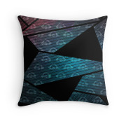 Geometry In Space Graphic Throw Pillow 1