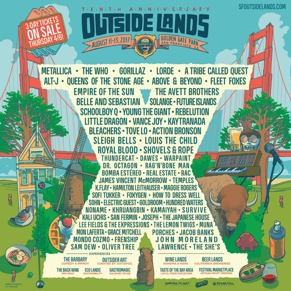 Outside Lands Lineup 2017