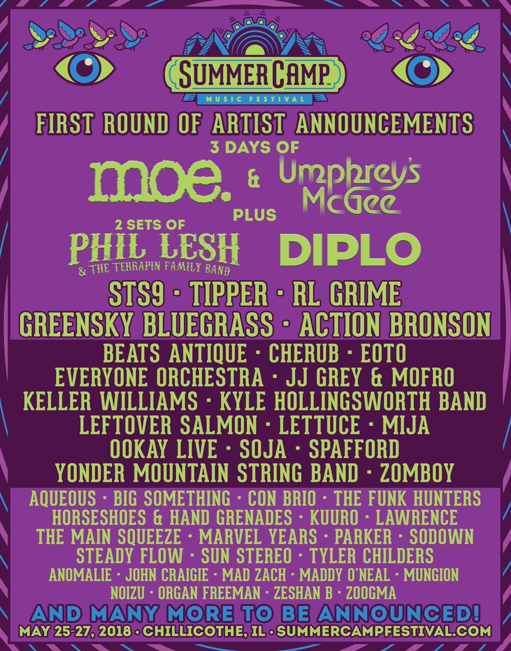summer camp lineup