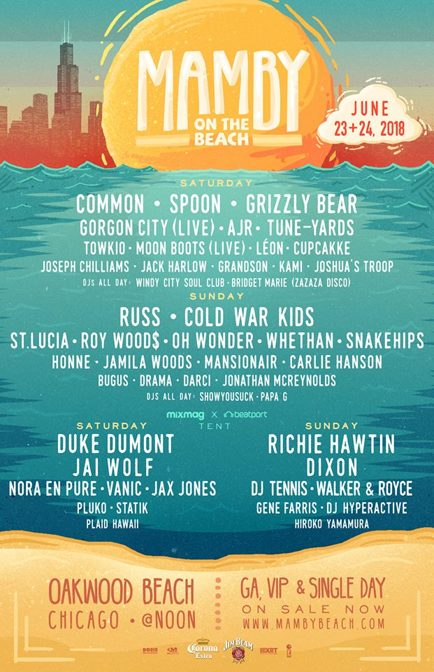 mamby on the beach 2018