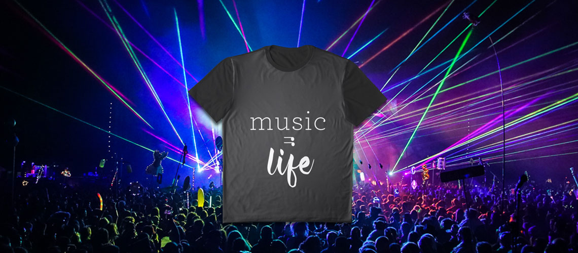 Music = Life Graphic Tee The Sights And Sounds online music store