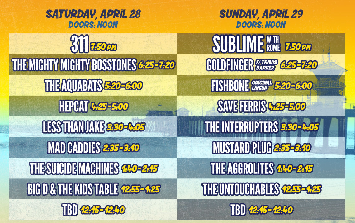 Back To The Beach Daily Lineup