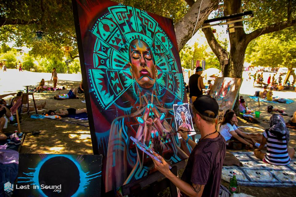 Live painting at LIB, Photo: LostinSound