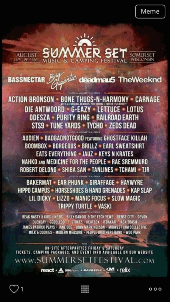 [FESTIVAL NEWS] Summerset Music Festival Leak Reveals Deadmau5, Bassnectar, Big Gigantic & More!