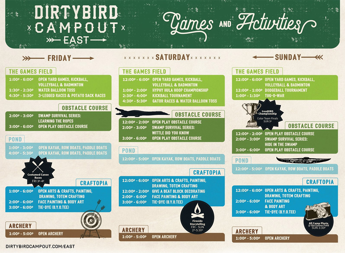 Dirtybird Campout East 2018 info