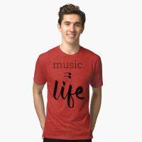 music = life tri-blend tshirt