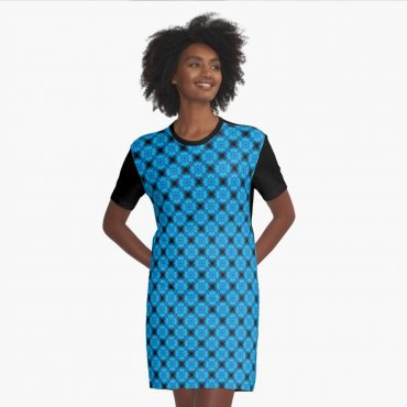 Midnight Lights Festival Trip Graphic T-Shirt Dress