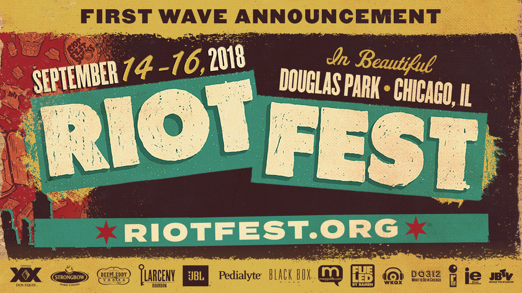 Riot Fest Unveils First Wave of 2018 Headliners