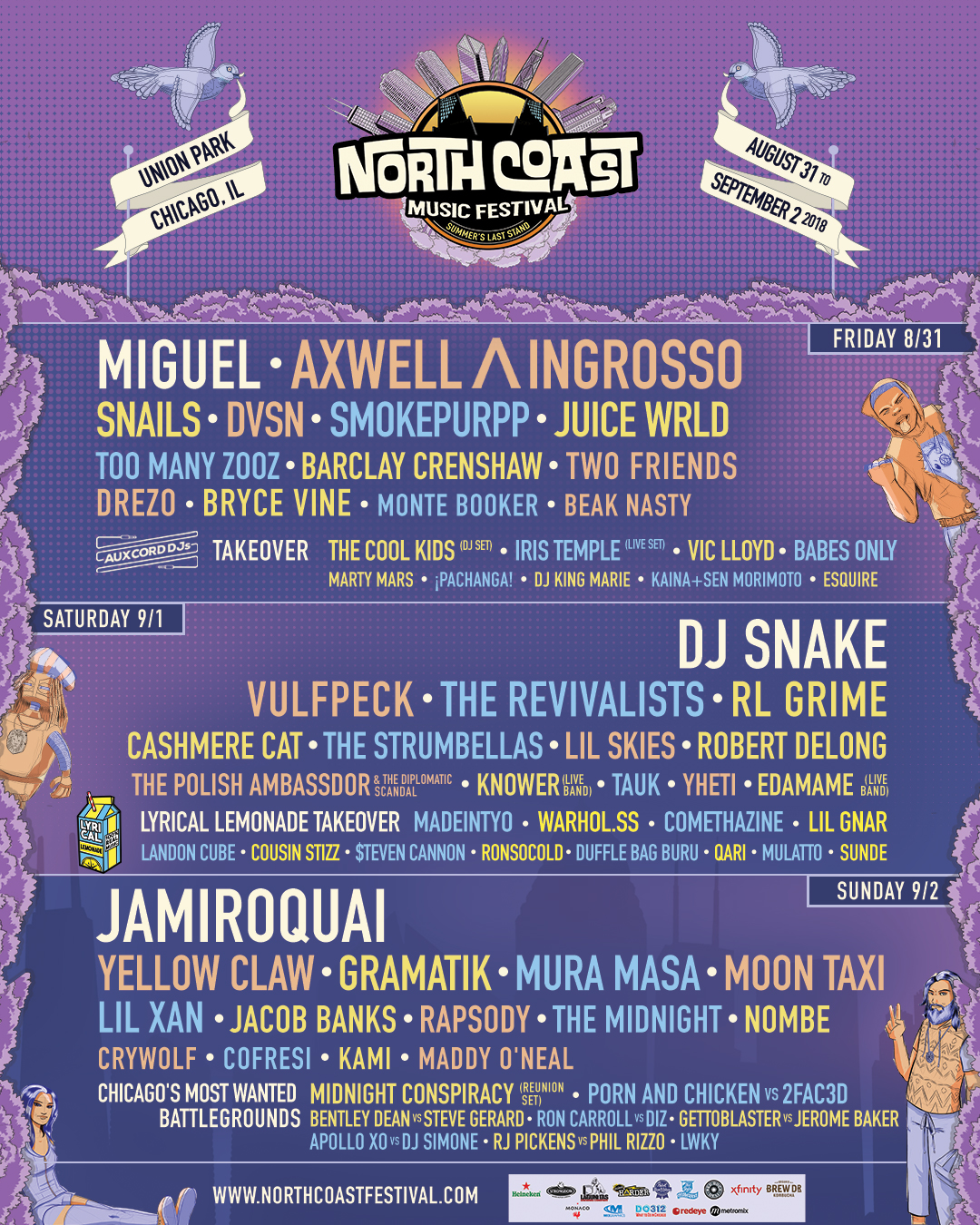 north coast 2018 music festival