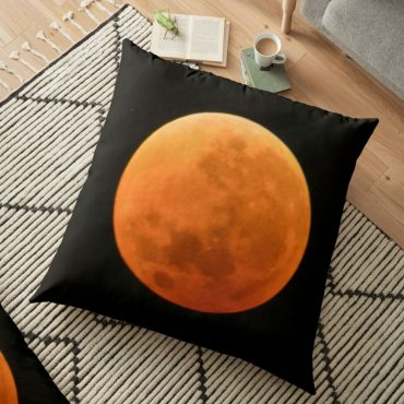 blood moon floor pillow